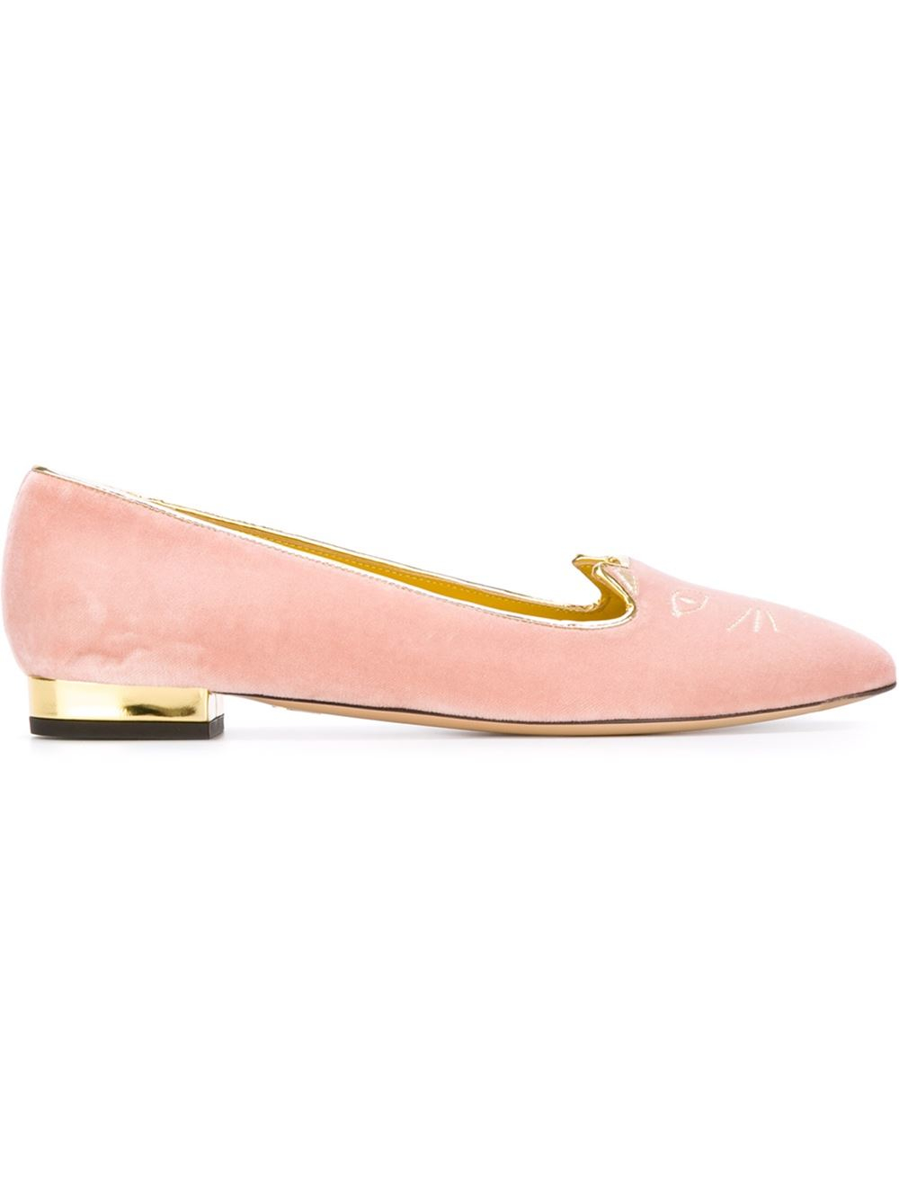 discount outlet sale official site Charlotte Olympia Mid-Century Kitty Flats w/ Tags sale fashion Style UPJFZw7w9