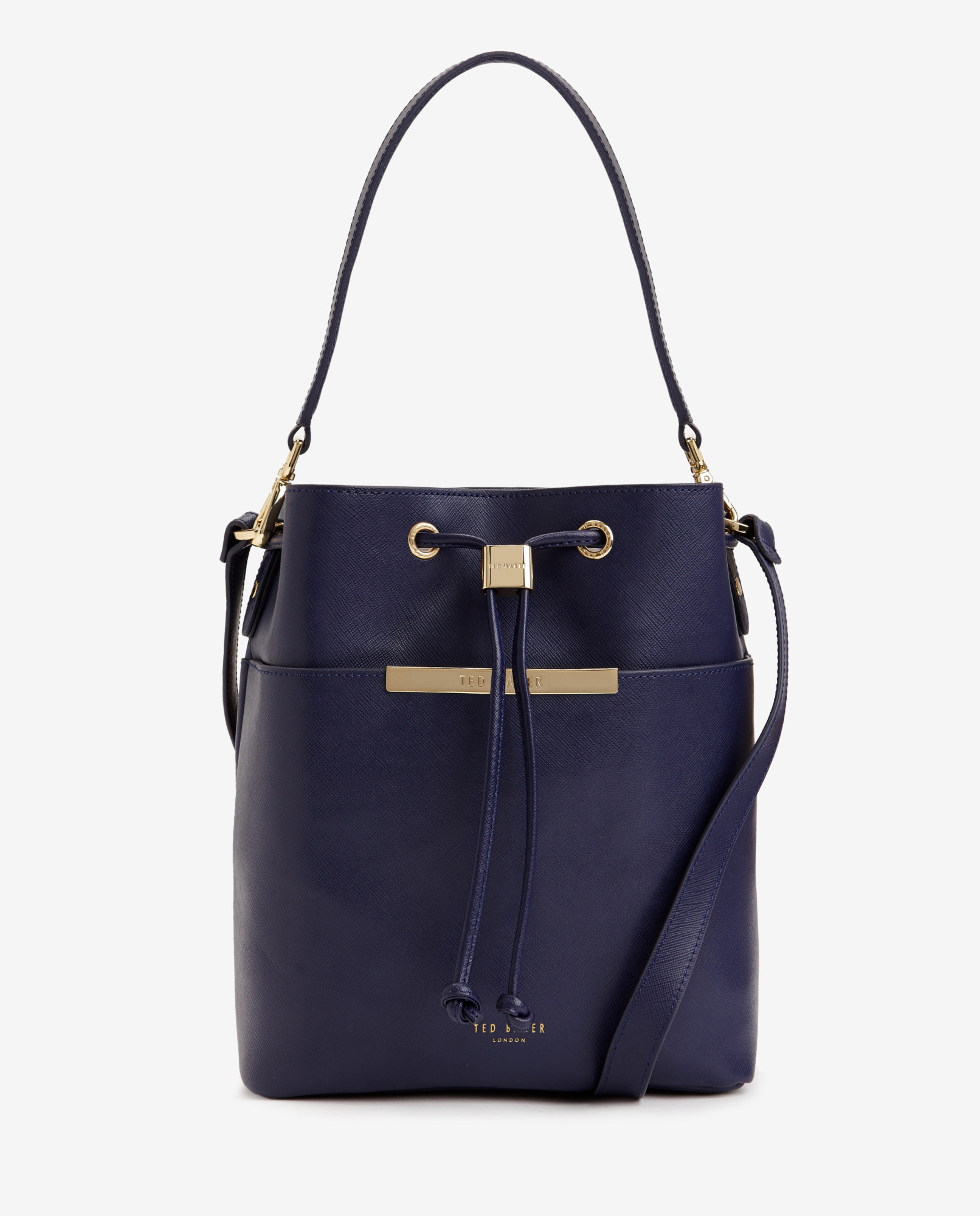 eb05888e101826 Ted Baker Crosshatch Leather Bucket Bag in Blue - Lyst