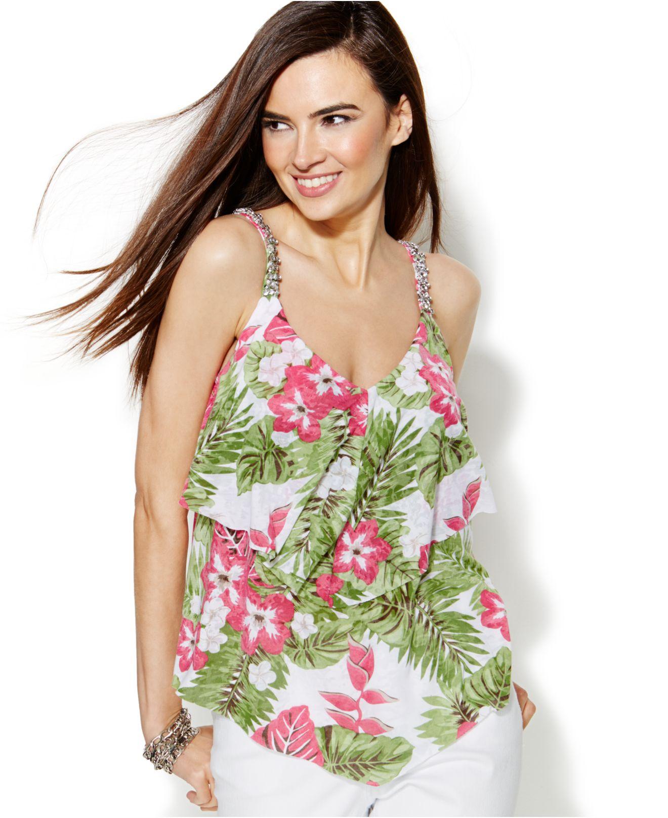 inc international concepts embellished tropical