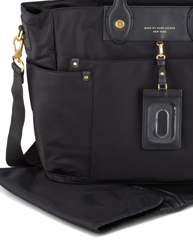 marc by marc jacobs preppy nylon elizababy diaper bag in black lyst. Black Bedroom Furniture Sets. Home Design Ideas