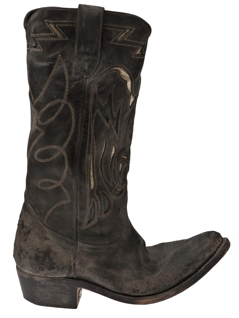 Golden Goose Deluxe Brand Flying Boots in Black