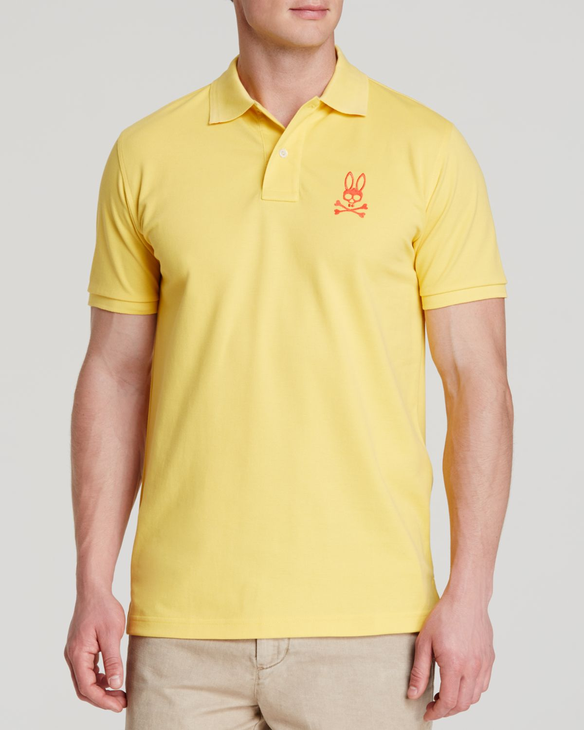 861c61c3 Psycho Bunny Tall Bunny Polo - Regular Fit in Yellow for Men - Lyst