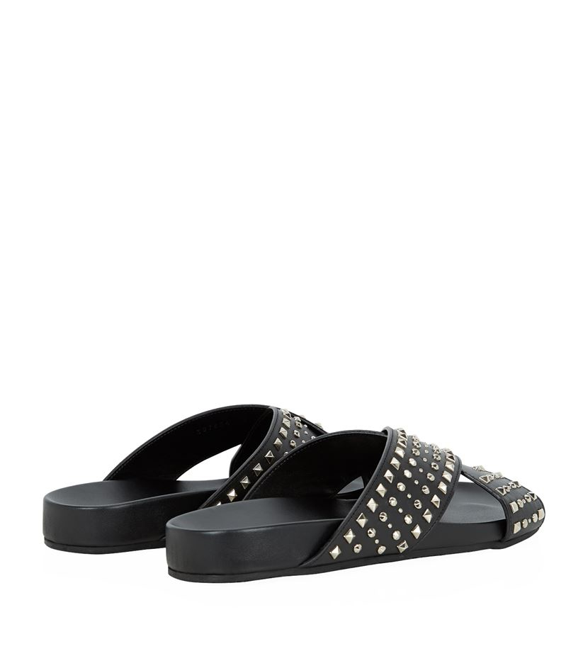 be97b615550 Gucci Cross Strap Studded Sandal in Metallic for Men - Lyst