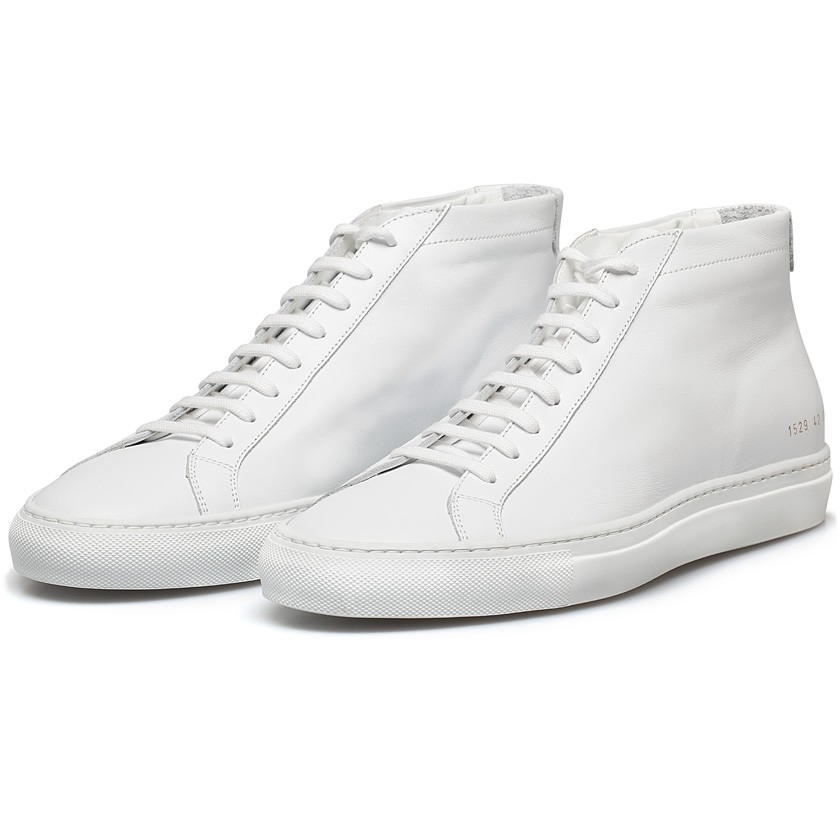 common projects white original achilles mid sneakers in white for men lyst. Black Bedroom Furniture Sets. Home Design Ideas