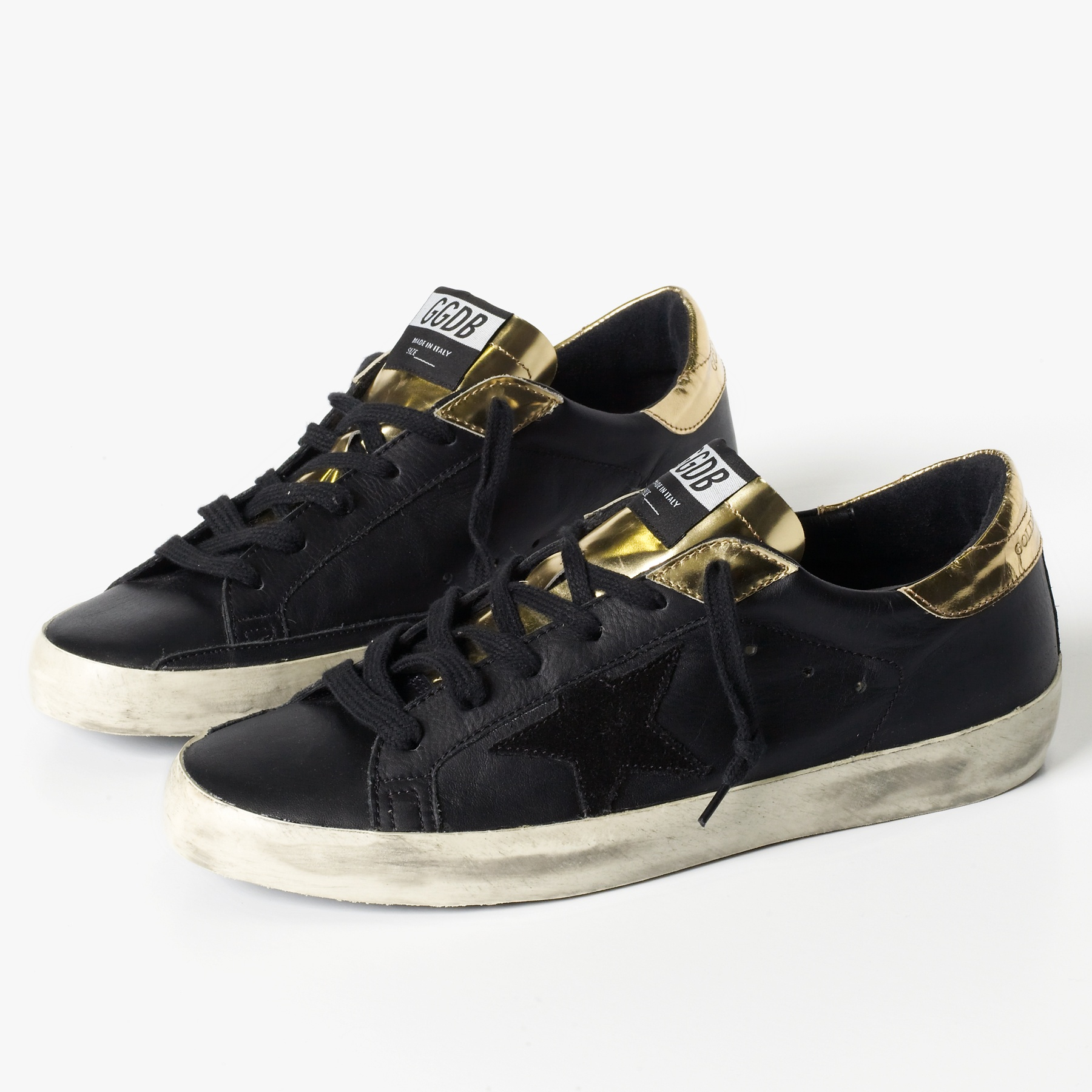 lyst james perse golden goose superstar sneaker mens in black for men. Black Bedroom Furniture Sets. Home Design Ideas