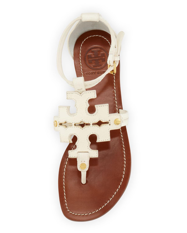 c51c38b57e52e Lyst - Tory Burch Phoebe Logo Thong Sandal Ivory in White