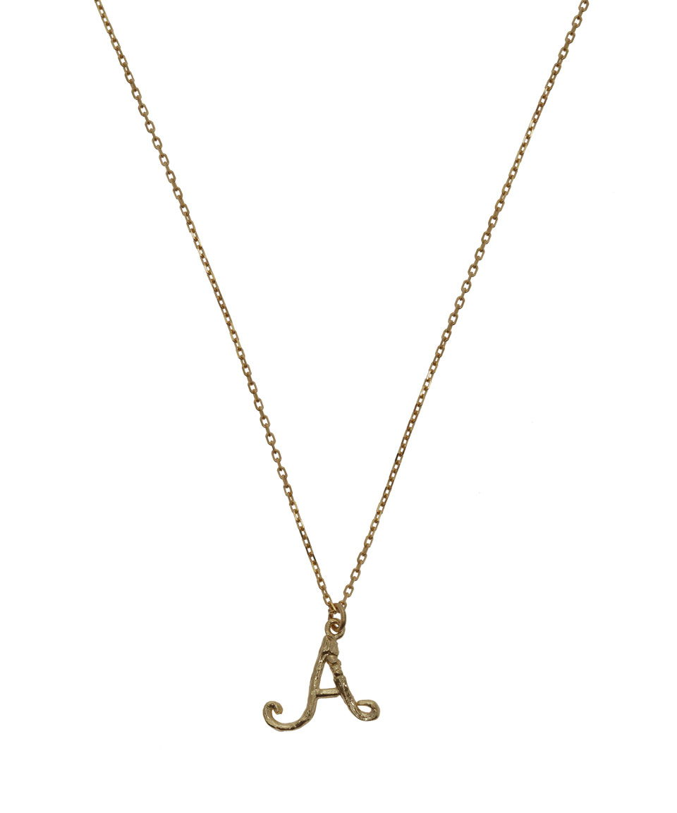 Alex monroe 18ct Gold Letter A Enchanted Twig Necklace in ...