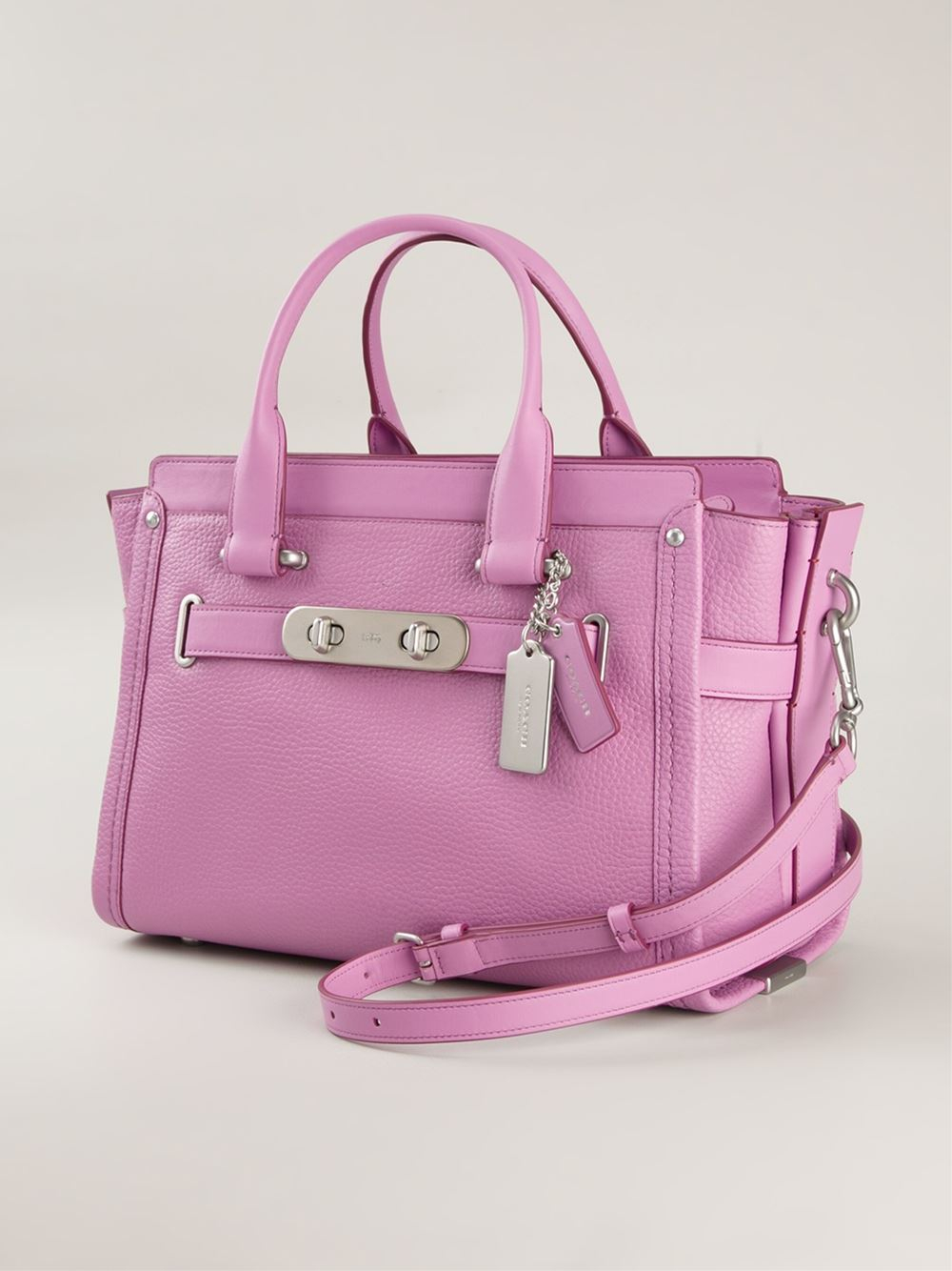 Coach 'Swagger' Tote Bag in Pink | Lyst