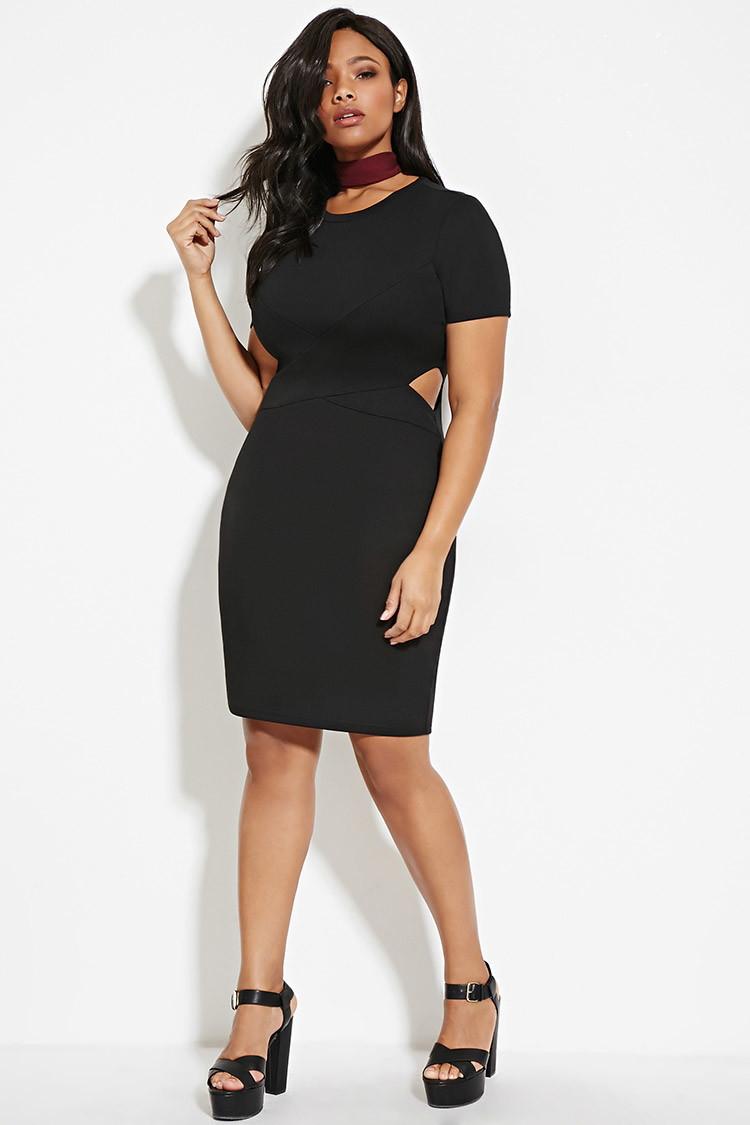 Plus Size Cutout Bodycon Dress