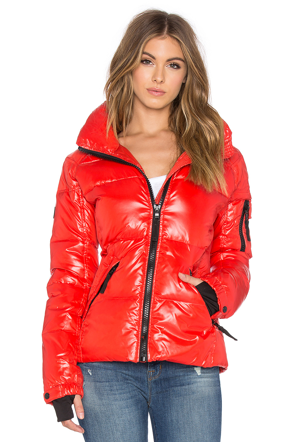 Sam Freestyle Quilted Jacket In Red Lyst