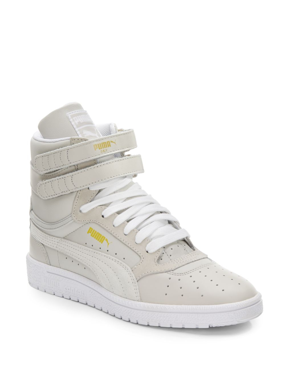8aad9181eb2 ... discount code for lyst puma sky ii high top leather sneakers in gray  71f6a 6136f