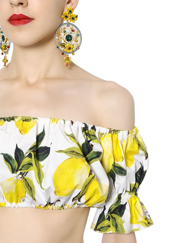 17614273c0 Dolce Gabbana Printed Crop Top