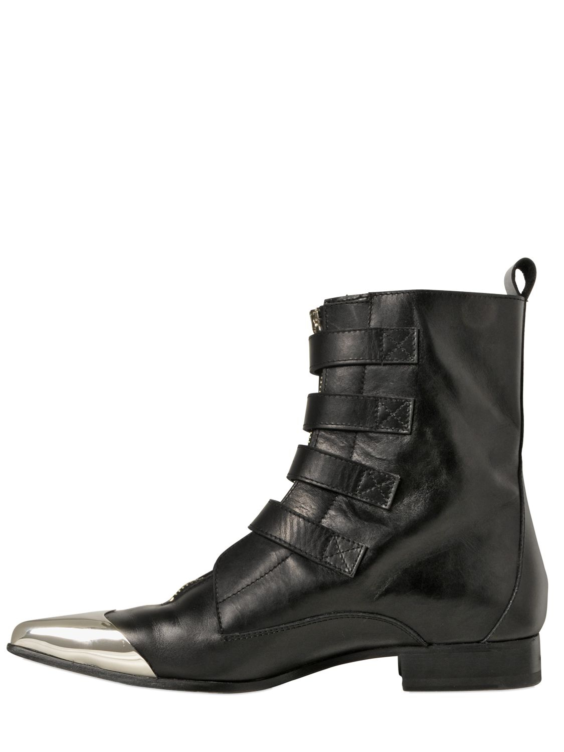 e31ddb3181649 Diesel Black Gold 25mm Metal Toe Leather Boots in Black - Lyst