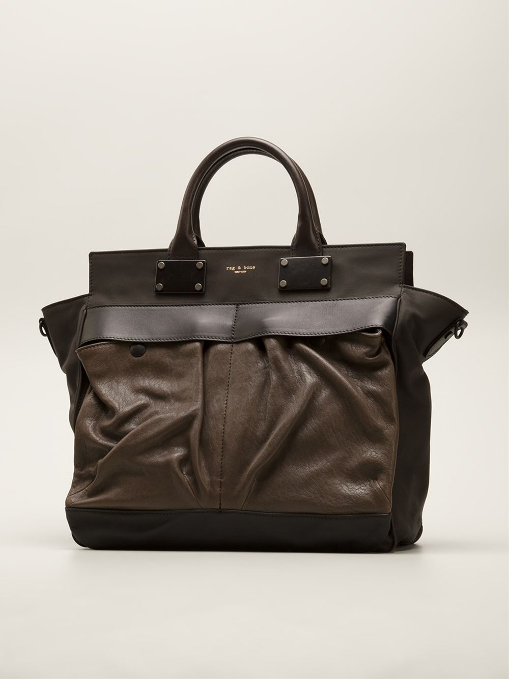 Rag & Bone Large Pilot Tote in Brown