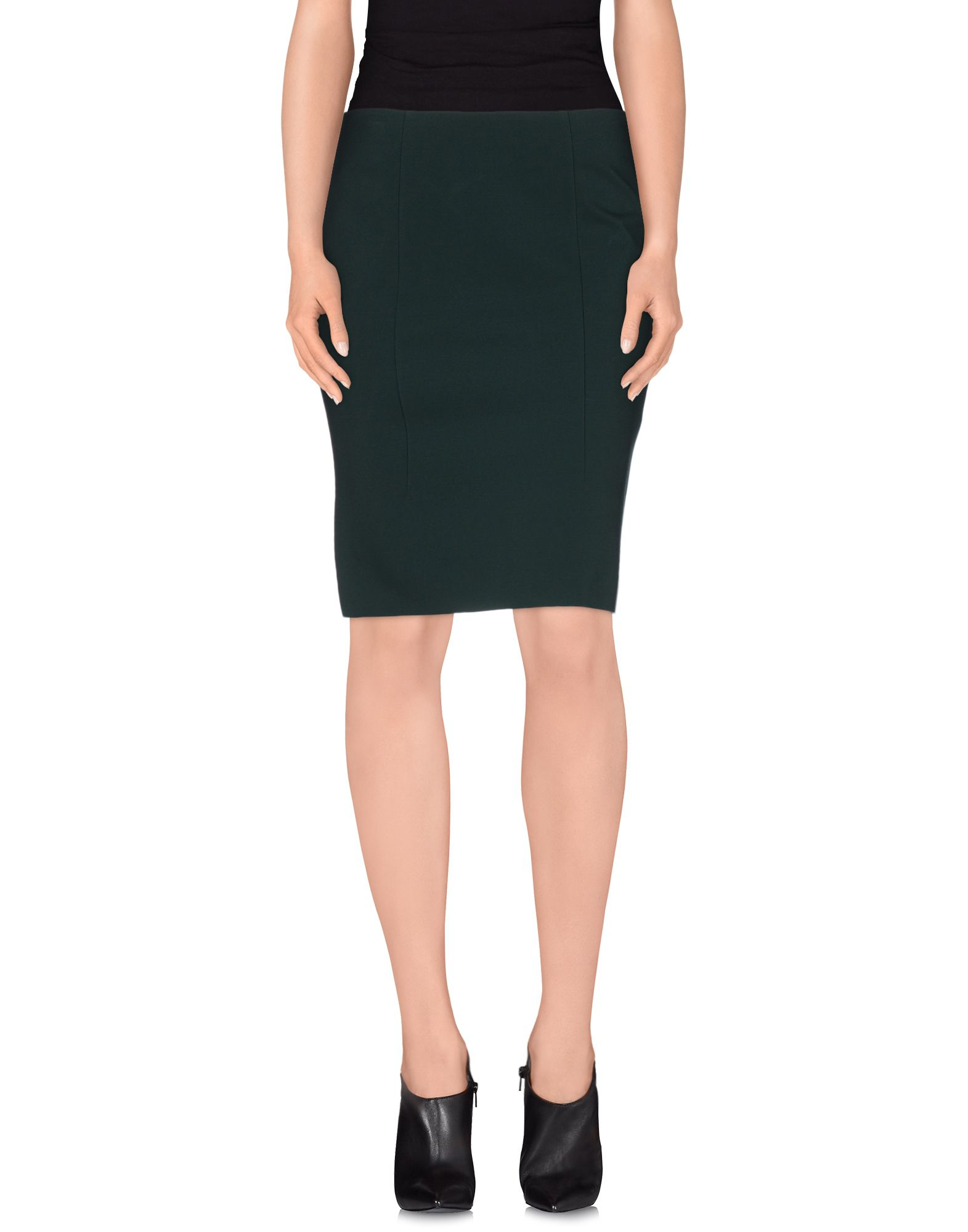 cedric charlier knee length skirt in green lyst