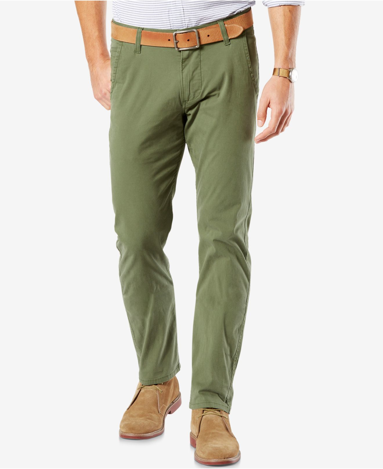 Simple Gap Women39s Classic Khaki Pants  Green  Size 8 Long  NWT  EBay
