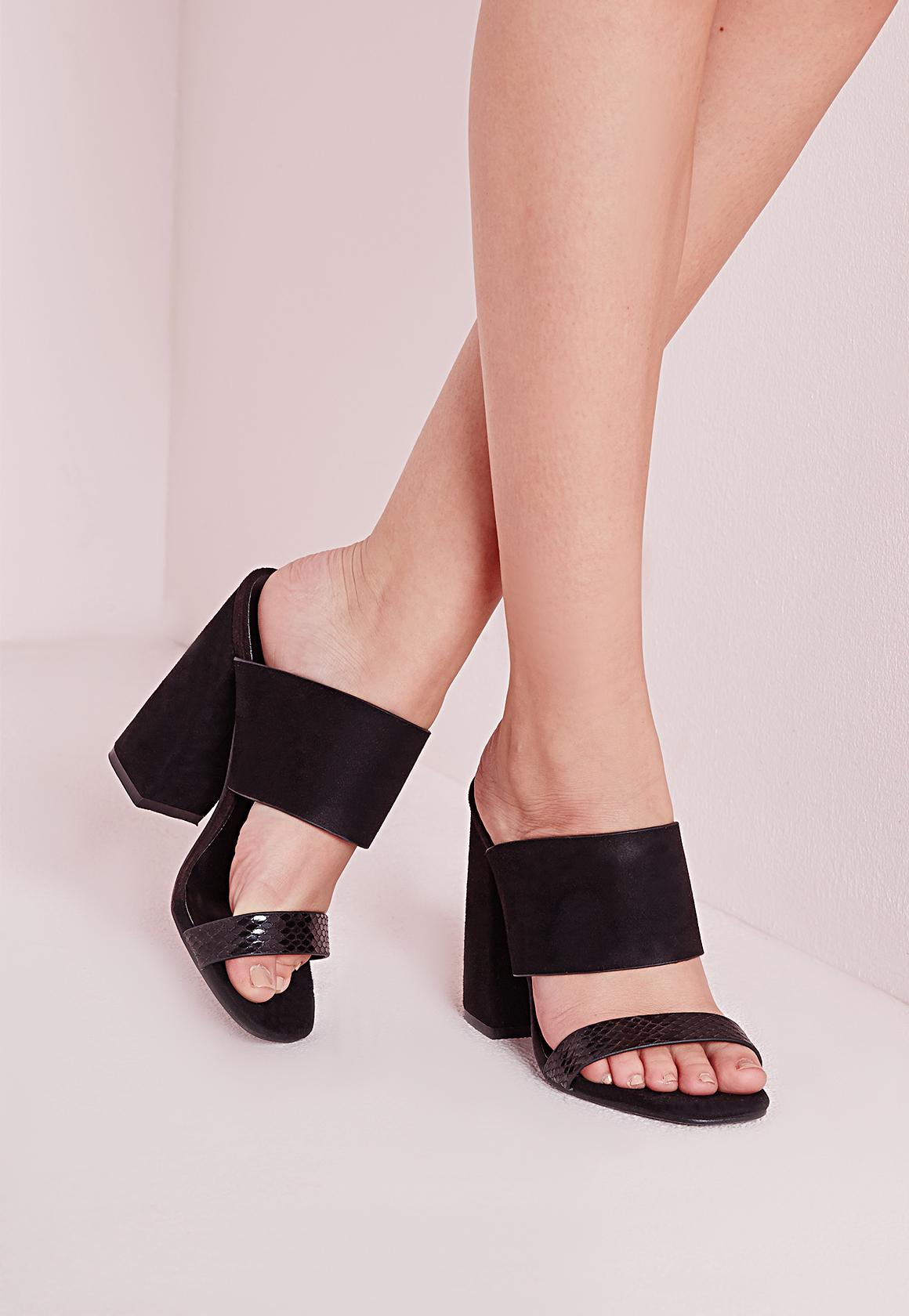 Missguided Double Strap Block Heel