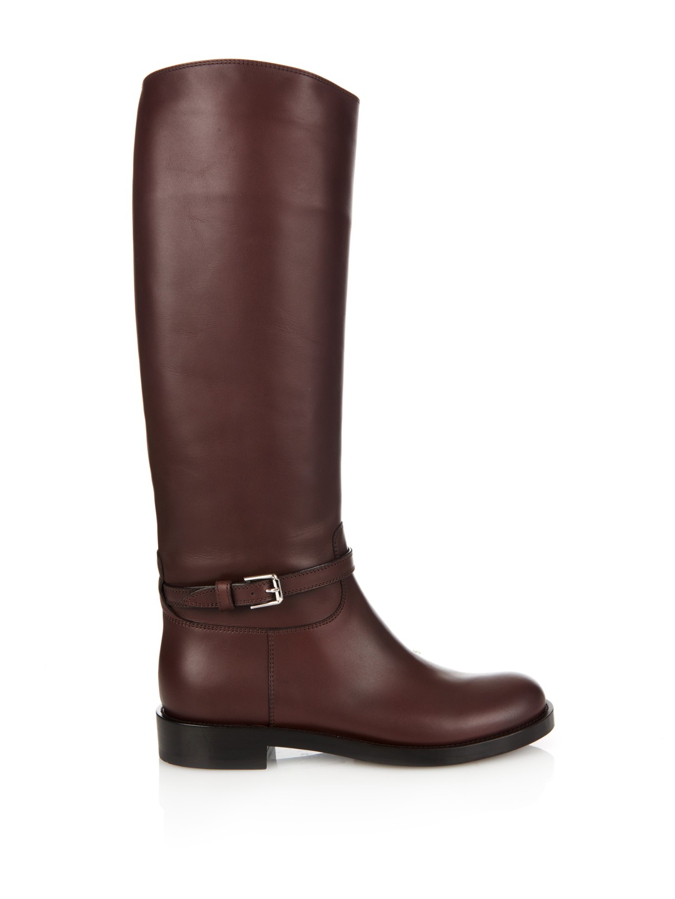 lyst gianvito rossi riding leather boots in brown. Black Bedroom Furniture Sets. Home Design Ideas