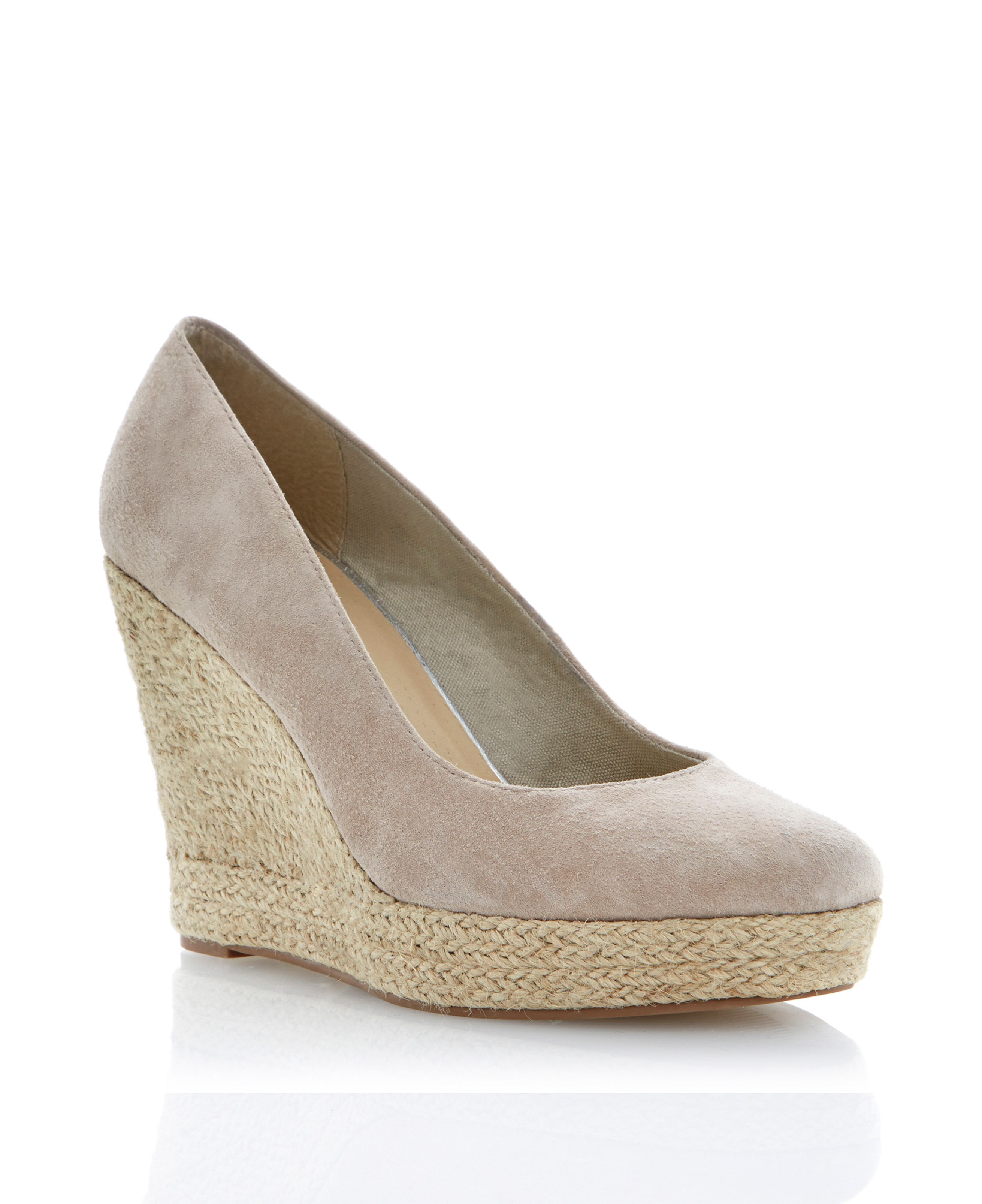 linea antipasto suede espadrille wedge court shoes in