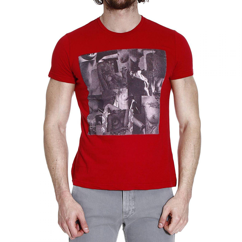 Richmond denim t shirt short sleeve crewneck print in red for T shirt printing richmond va
