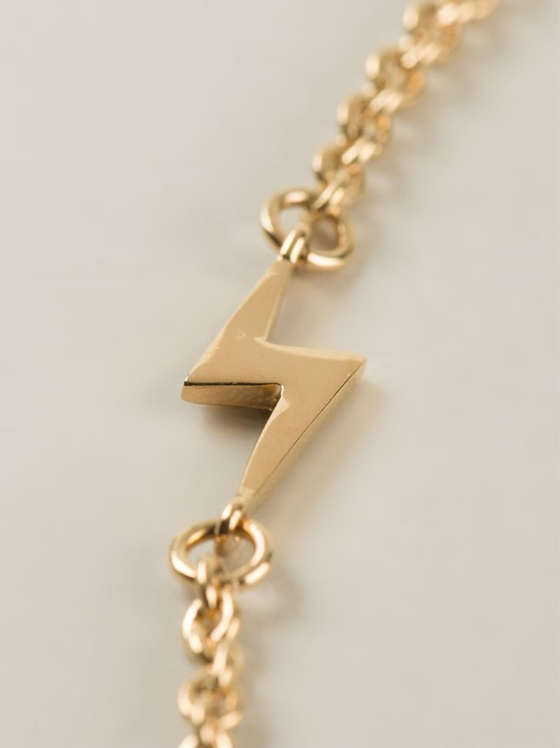 Marc By Marc Jacobs 'Key Bow Tie' Necklace in Metallic