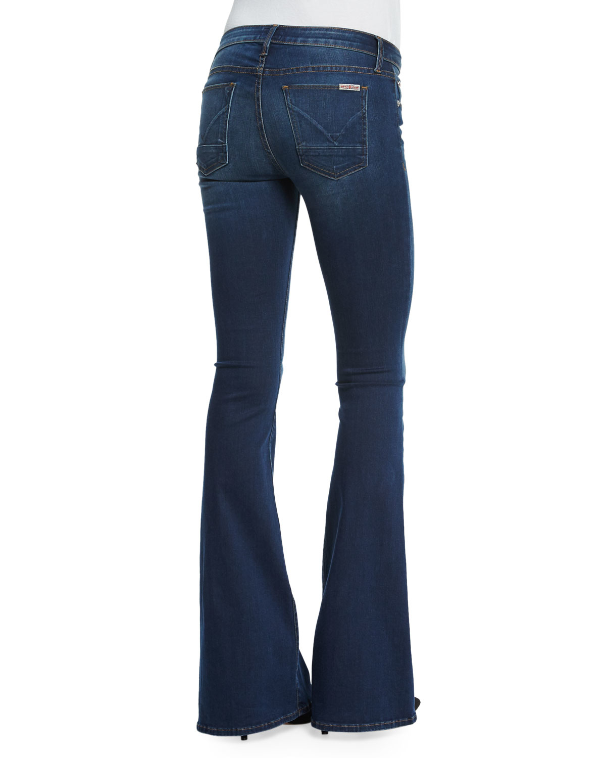 Hudson jeans Mia Mid-rise Flare-leg Jeans in Blue | Lyst