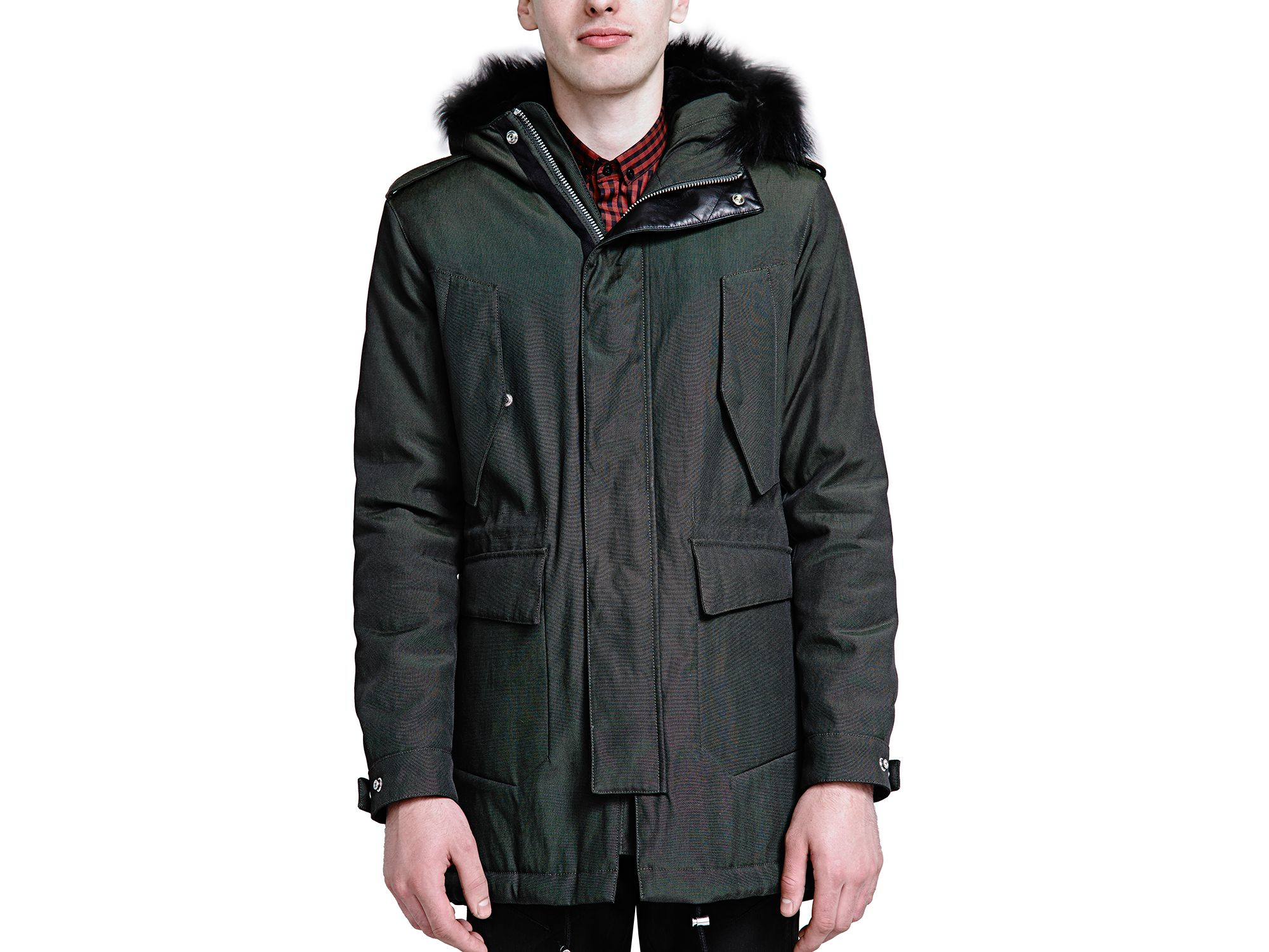 The Kooples Classic Parka In Green For Men Lyst