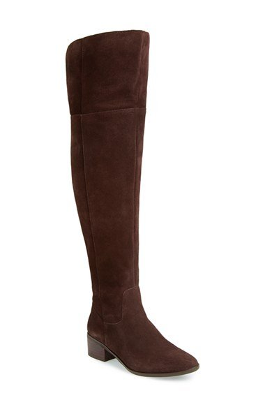 Steve Madden Suede Over The Knee Boot In Brown Lyst