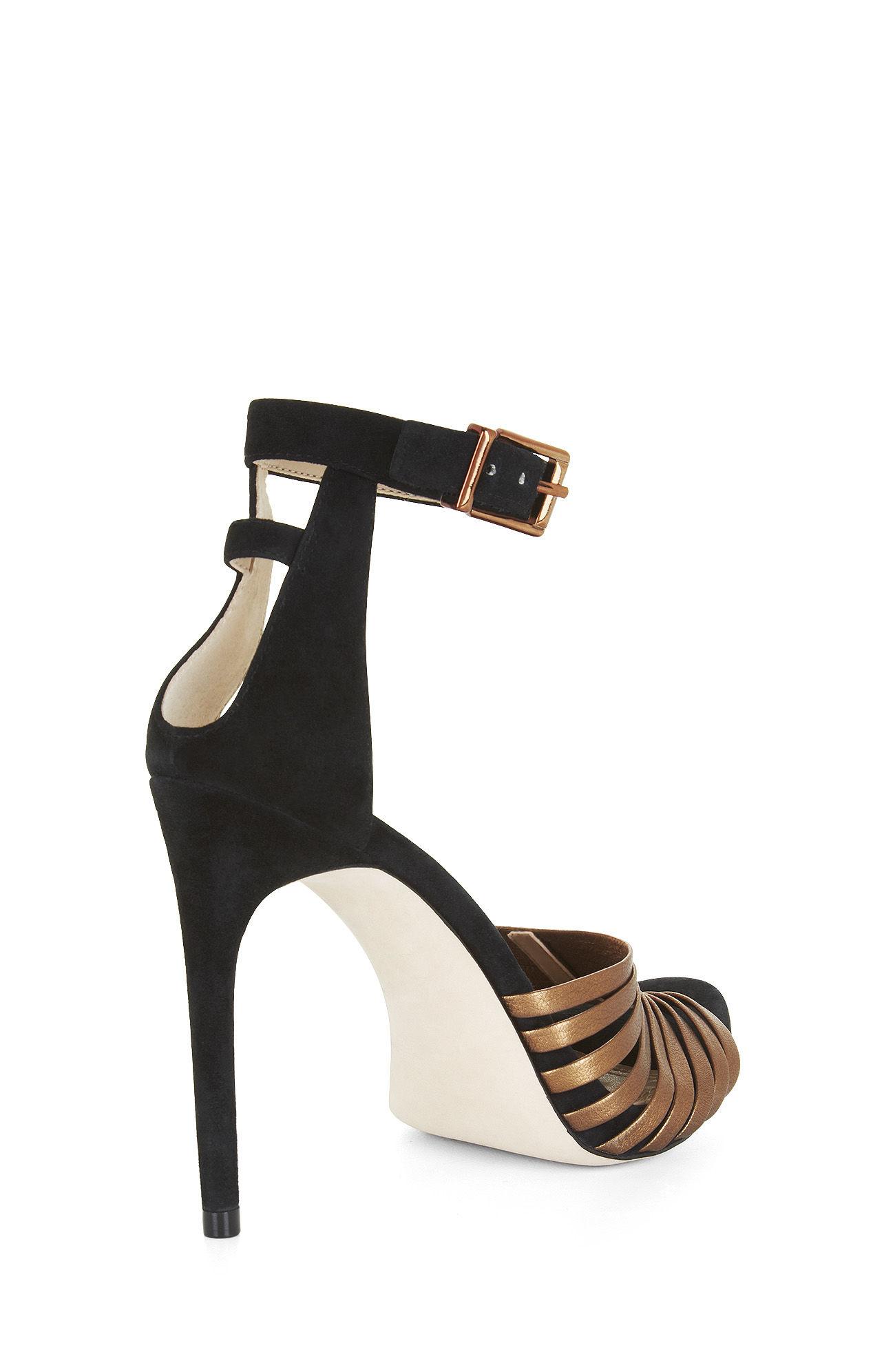 965ec2bcbea Lyst - BCBGMAXAZRIA Dena High-heel Strappy Sandal in Metallic
