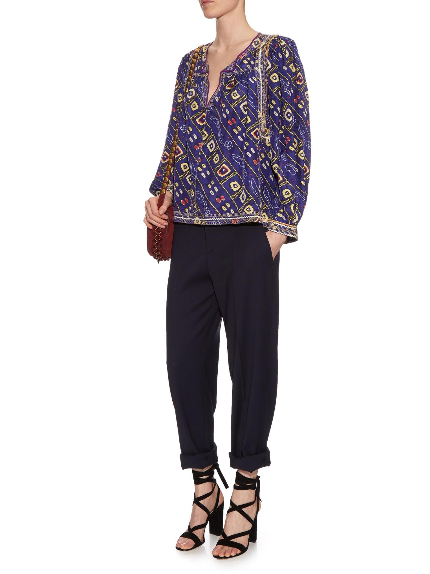 059eb283522 Isabel Marant Blue Dallin Trousers