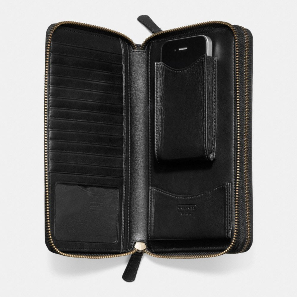 Lyst Coach Bleecker Leather Double Zip Travel Organizer