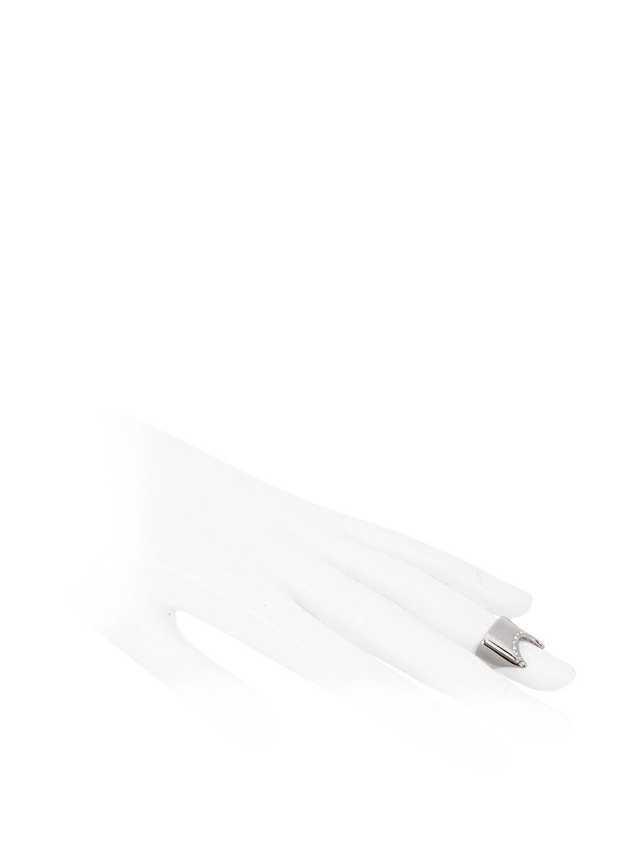 Vita Fede Nail Ring With Swarovski Crystals in White