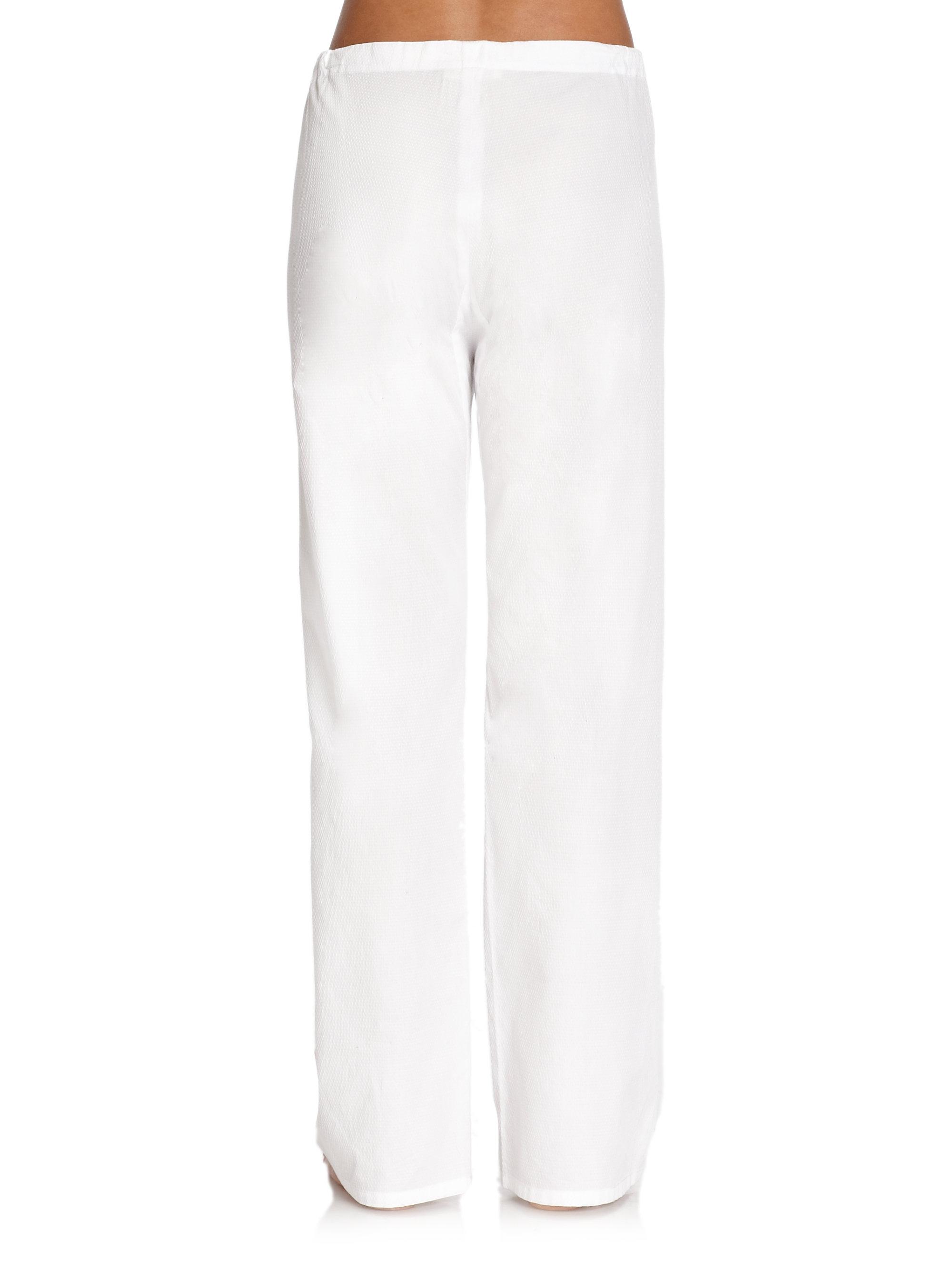 Cool White Cotton Pants Women  Pi Pants
