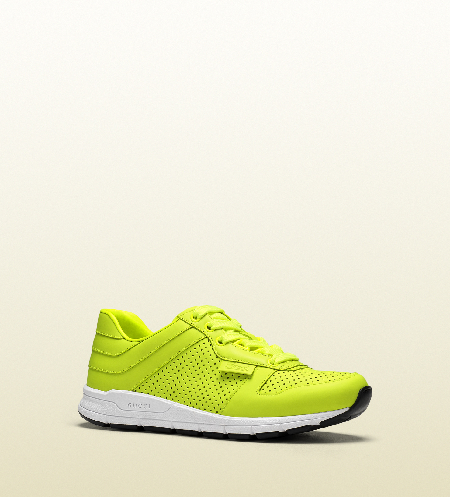 Gucci Neon Leather Low-top Sneaker in Yellow for Men