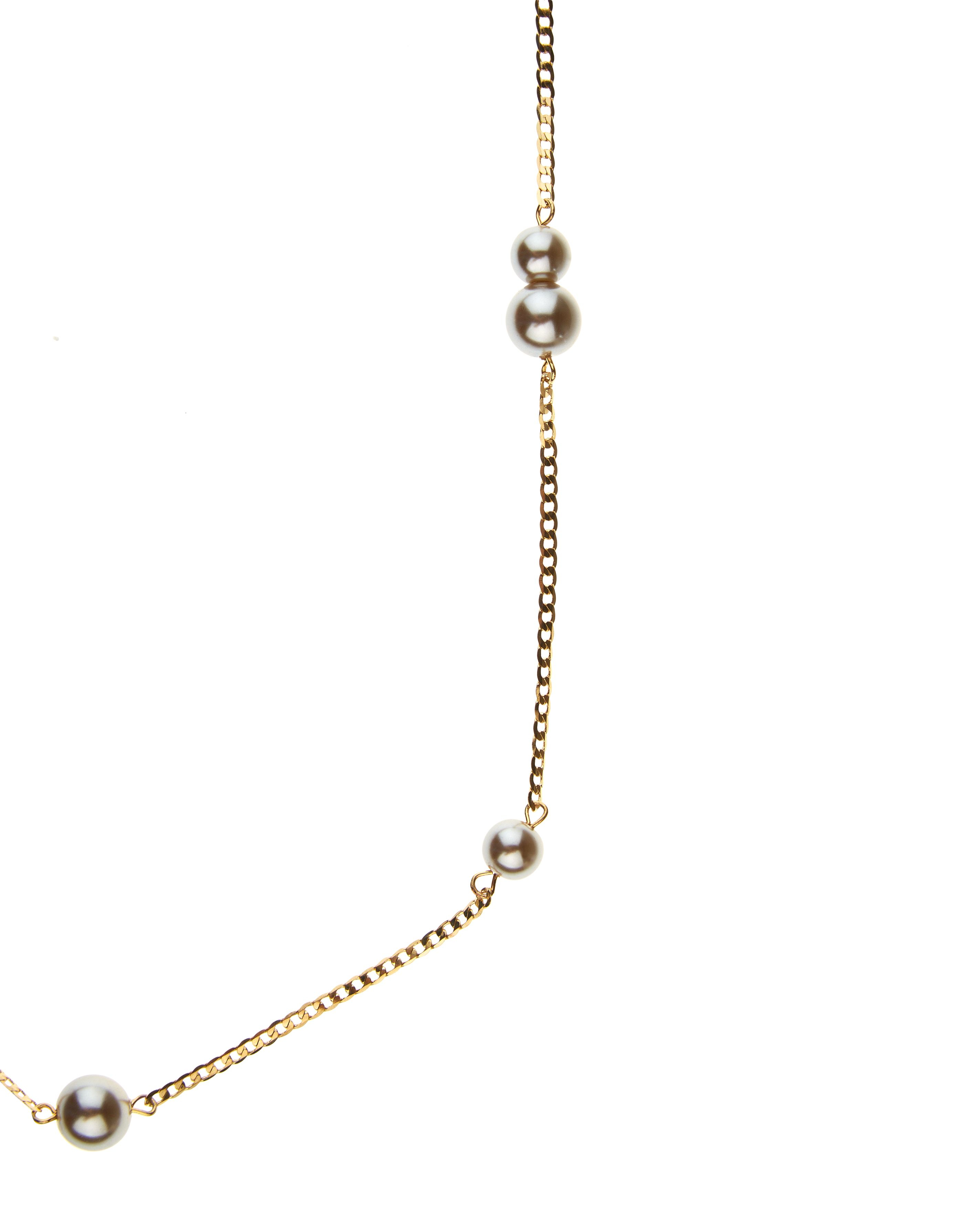 Jaeger Pearl Chain Necklace in Taupe (Brown)