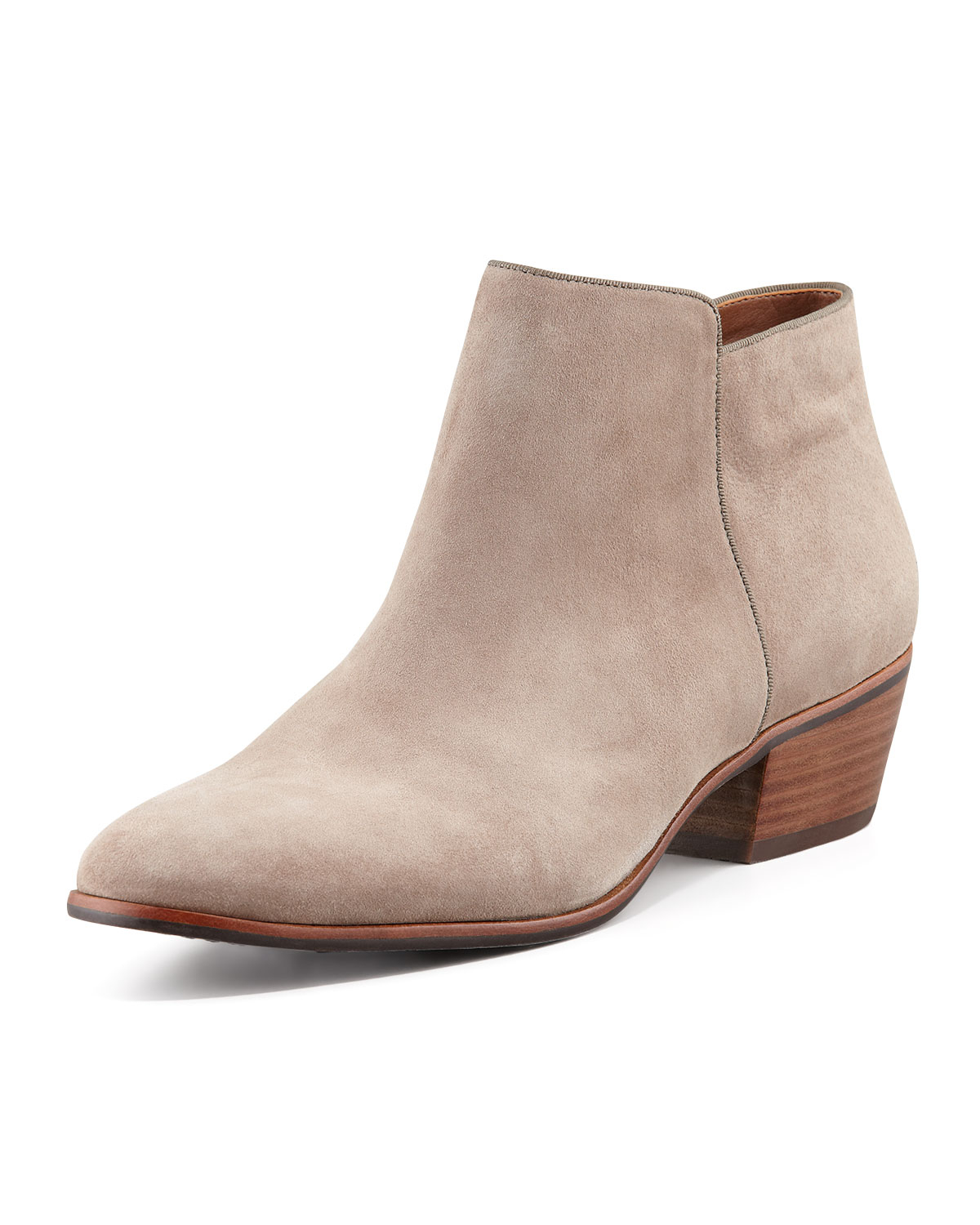 sam edelman petty suede ankle boot in beige lyst
