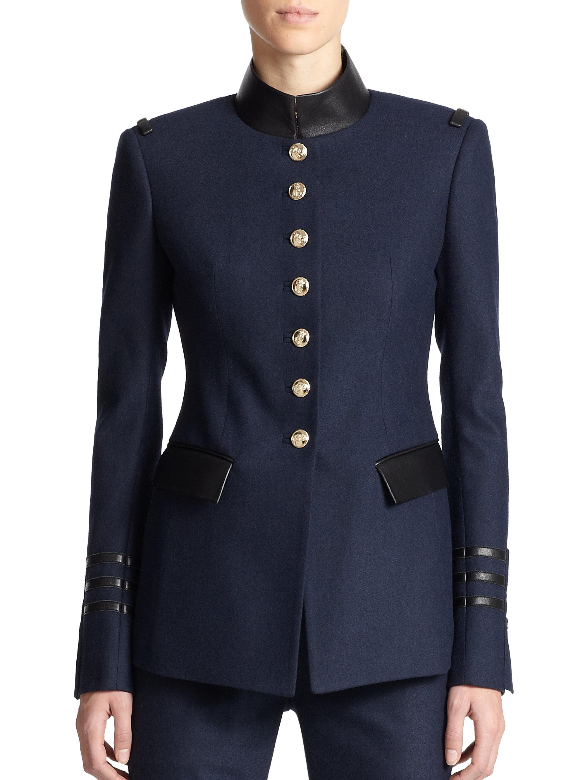 Blue Military Jacket Coat Nj