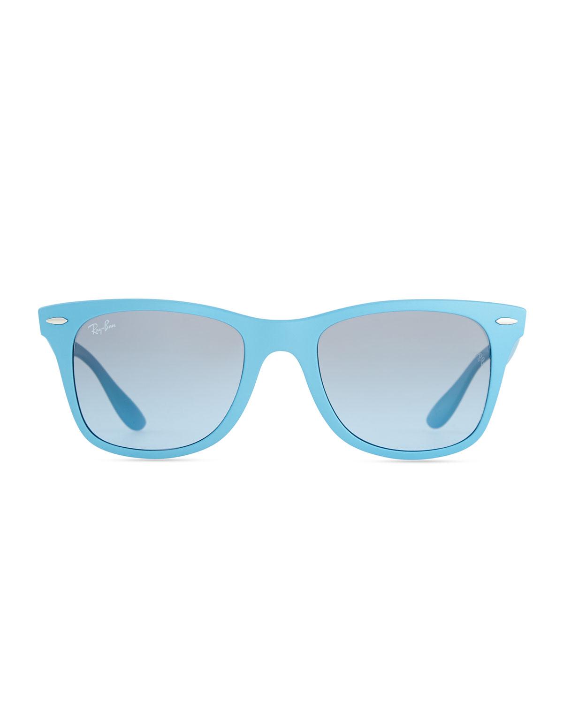 Ray Ban Liteforce Tech Wayfarer Sunglasses Light Blue In