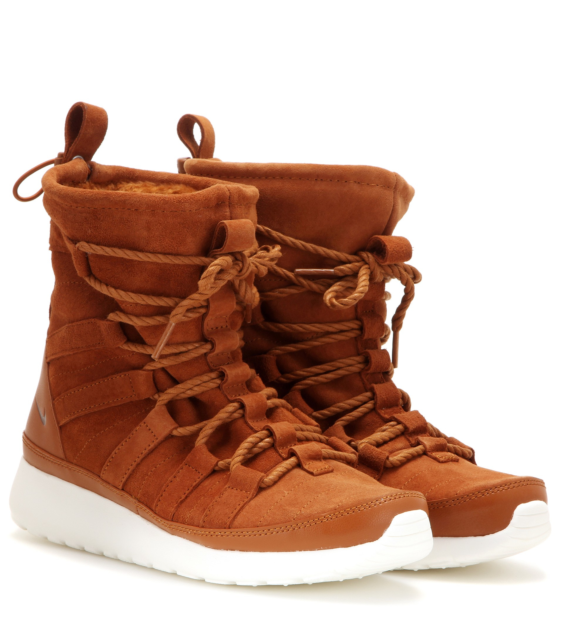 sneakers for cheap ab5ff 1a331 Women's Brown Roshe One Hi Suede Sneaker Boots