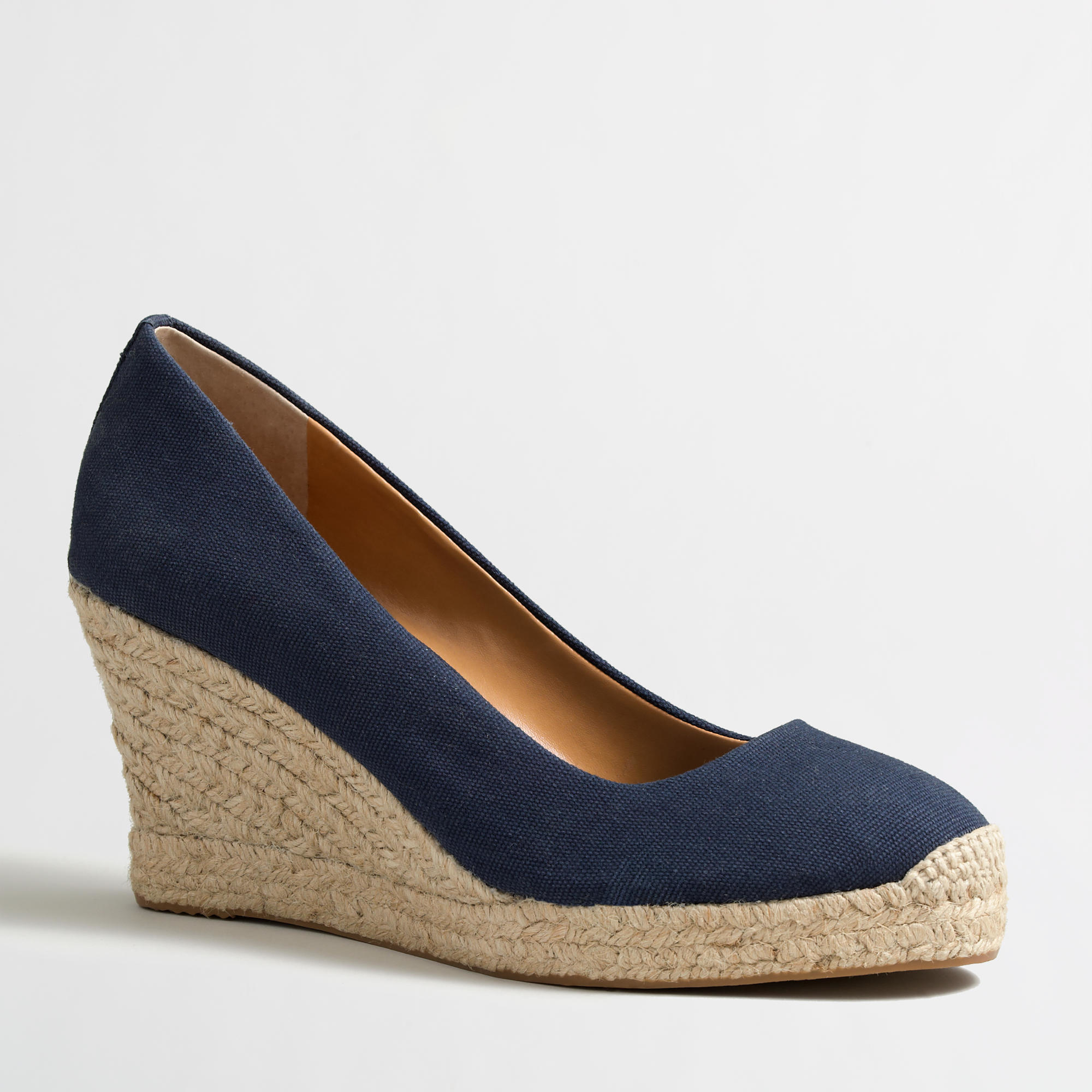 f5970585887 J.Crew Blue Factory Canvas Espadrille Wedges
