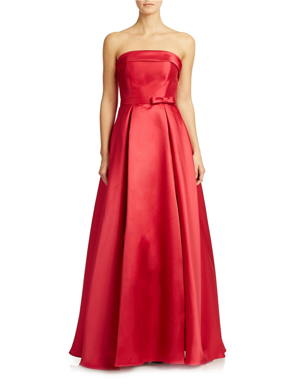 Lyst - Xscape Strapless Evening Gown in Red