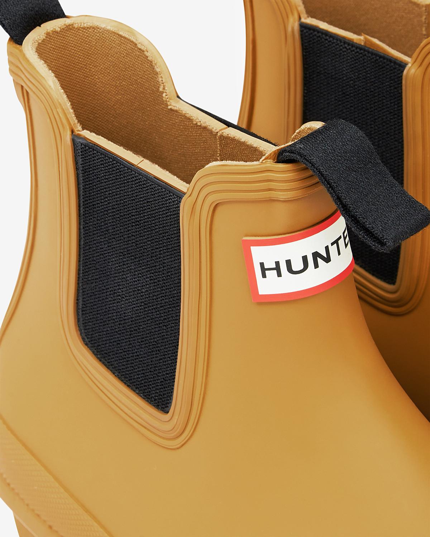 HUNTER Women's Original Chelsea Boots in Burnt Sulphur (Yellow)