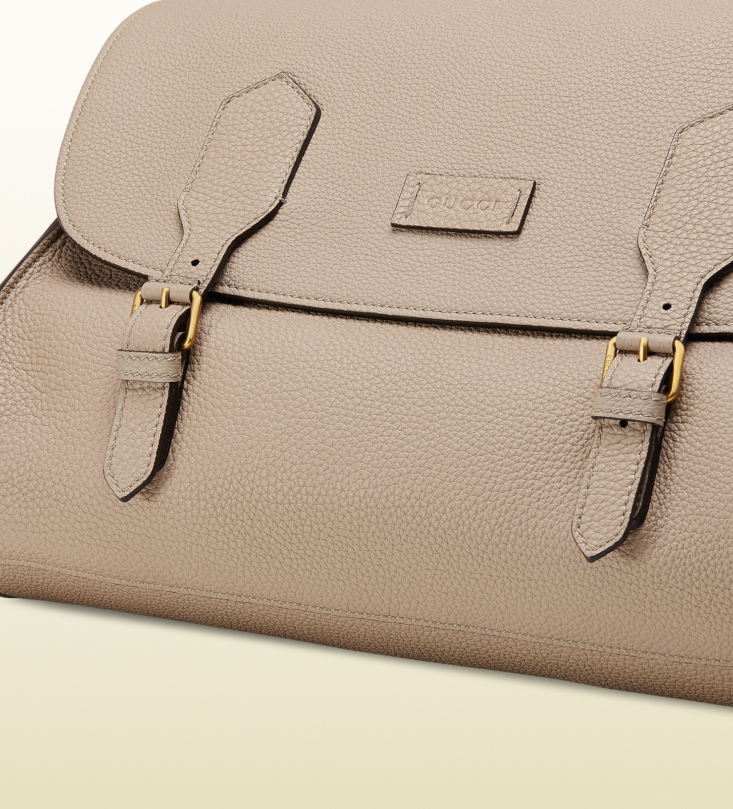 8adffb6649c8 Gucci Leather Messenger Bag With Striped Strap in Natural for Men | Lyst