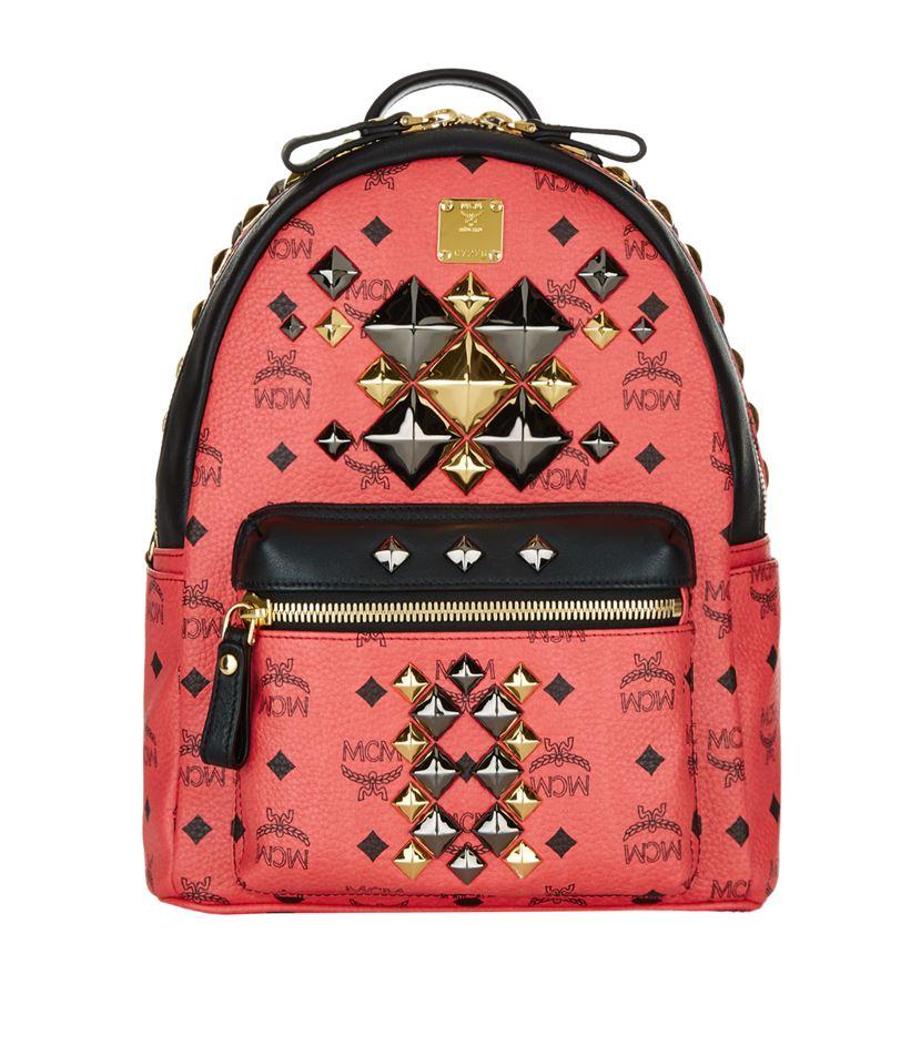 mcm small stark brock backpack in red lyst. Black Bedroom Furniture Sets. Home Design Ideas