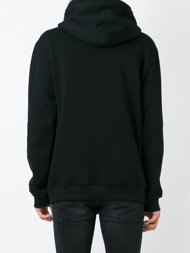 Dolce & Gabbana Cotton Patch Detail Hoodie in Black for Men