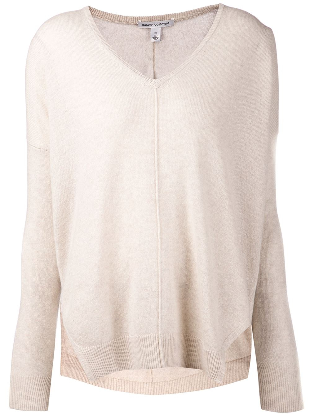 Lyst Autumn Cashmere Off White Slouchy Vneck Sweater In