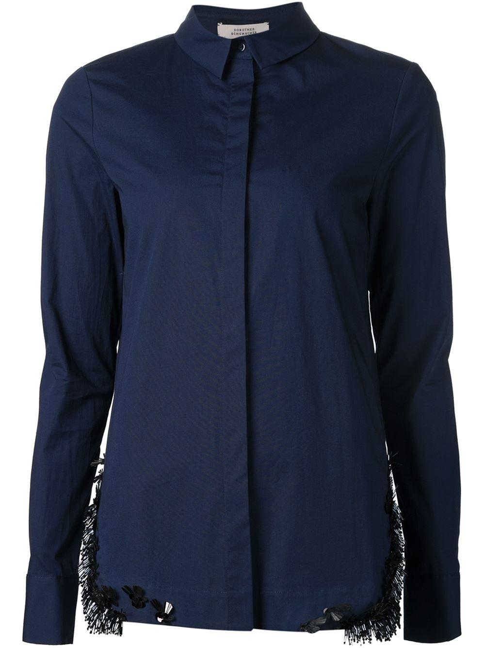 dorothee schumacher embellished shirt in blue lyst. Black Bedroom Furniture Sets. Home Design Ideas