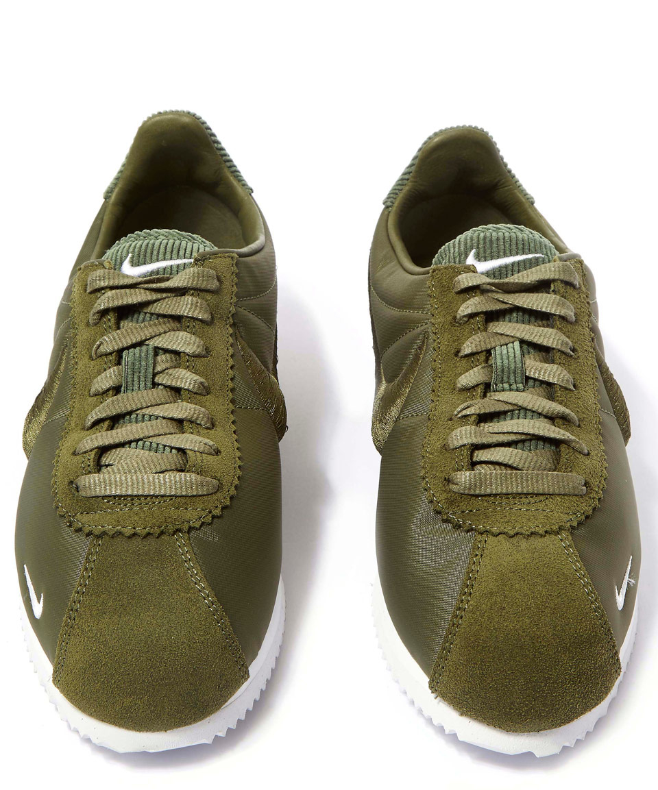 e167226053 ... inexpensive ireland nike olive classic cortez trainers in green lyst  b498d 0767d 5067c 8a346