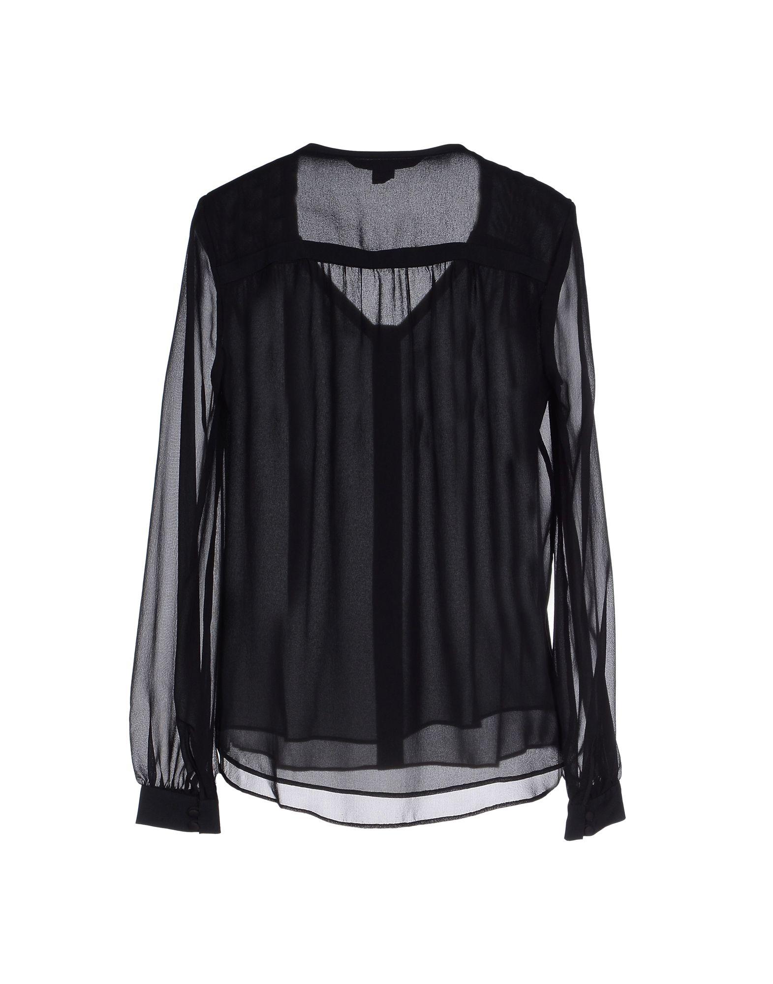 Lyst diane von furstenberg shirt in black for Diane von furstenberg shirt