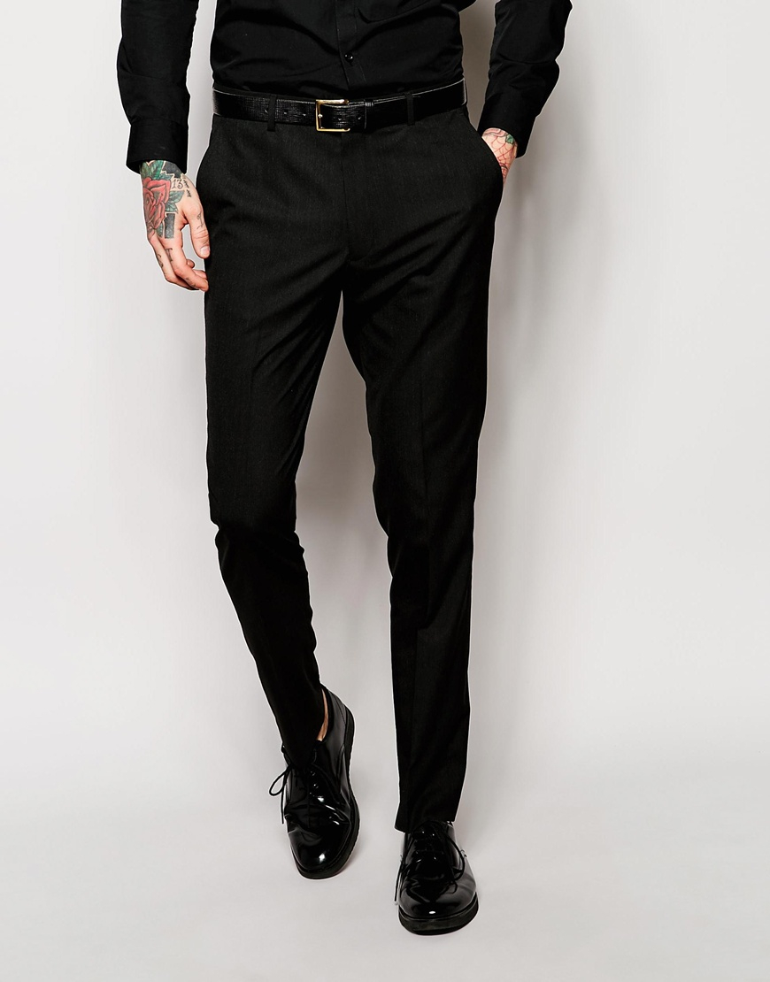 The suit is cut with a really small jacket, even for a slim fit, but the pants have a relatively large waist line yet are cut slim through the legs. I am an athletic build, and depending on the cut, I generally wear either a 42 in a slim fit or a 40/41 in a regular fit.
